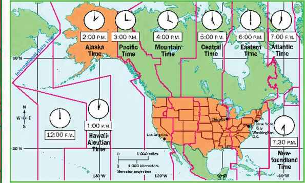 Different Time Zones United States