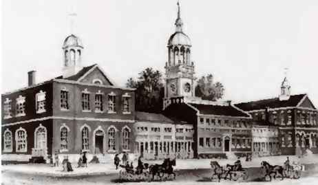 Pennsylvania State House 1787 Drawn